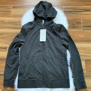 Cross cut hoodie men lululemon jacket gray